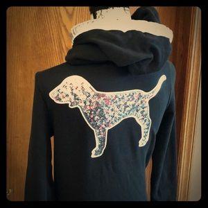 PINK Embellished hoodie Victoria's Secret RARE